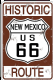 Historic Route 66 New Mexico aluminium sign 300mm x 200mm  (sf)